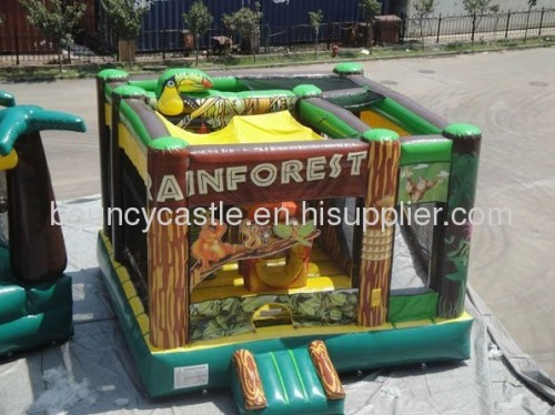 rain forest backyard commercial inflatable