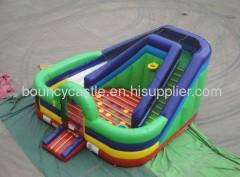 back yard inflatable slide combo 2012