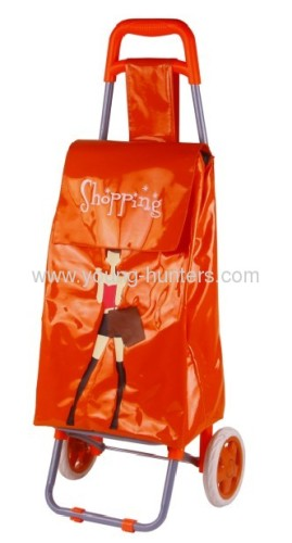 PVC Leather hoppa shopping trolley
