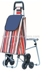 6 wheels folding shopping bag trolley