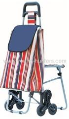 6 wheels folding shopping bag trolley