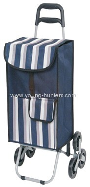 Polyester folding shopping trolley bag