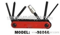 bicycle tool kit BICYCLE REPAIR FOLDING TOOL SET