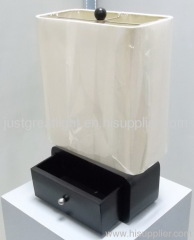 Cube shade practical innovative table lamp with drawer for house