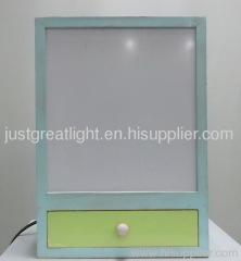 Patent bedside wooden rectangle desk lamp for room decoration TL029