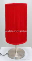 Contemporary red string table lamp with steel base for decoration TL032