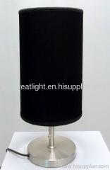 Custom stylish black string desk lamp with steel body for hotel TL032