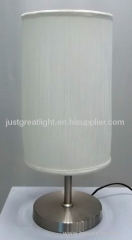 2012 newest style white thread table lamp with steel base for hotel TL032-W