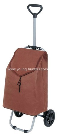 foldable wheeled shopping trolley bag