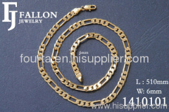 gold plated necklace FJ 1410101 IGP