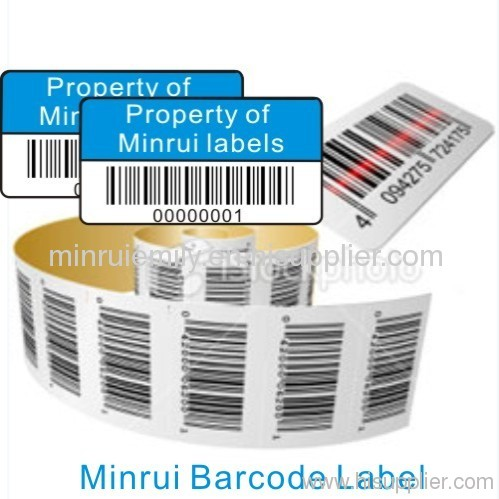 Custom Asset Labels Amp Tags Destructible Barcode Stickers