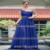 One Shoulder Fashion Ladies Evening Western Dresses