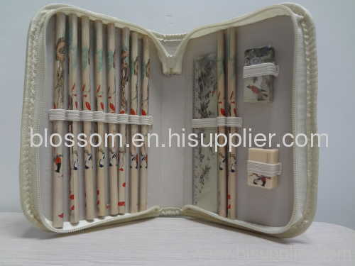 Blossom Chinese Stationery Kit/case for back to shcool
