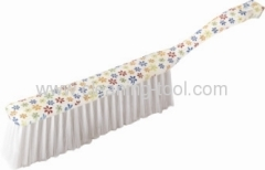 White Flower Long Handled Scrub Brush