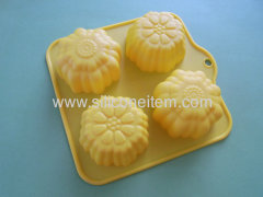4 Flower Stunning Shaped Silicone Muffin Mould