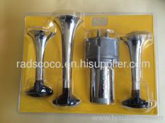 air horn chrome 3 pipe truck streamship passenger car parts