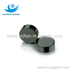 Neodymium Iron Boron disc magnet with black epoxy coating