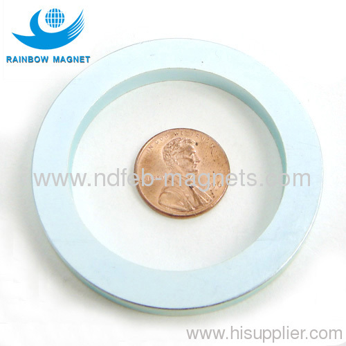 NdFeB Ring Magnet with blue-white zn coating