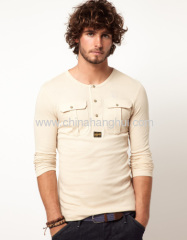 Pocket Grandad Long Sleeve shirts