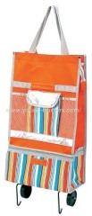 colorful rolling trolley bag with pocket