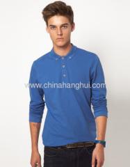 cotton long sleeve polo shirts