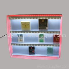 acrylic cigarette cabinet display