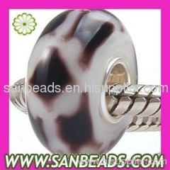 Fashion Jewelry High Quality European Glass Bead with Silver Core