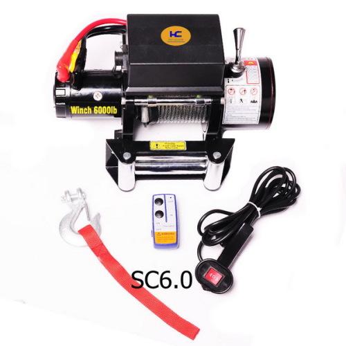 4wd electric winch 6000lb 12v or 24v