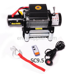 Truck winch with wireless remote control