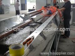 Wood and plastic composite profile extrusion line