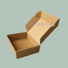 Single corrugated packaging box
