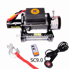 4X4 electric winch 12v