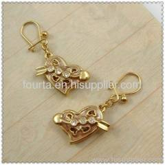 Copper plated gold jewelry earring 1140029-2