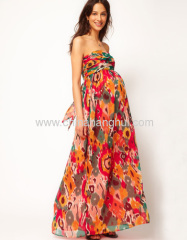 Bandeau Maxi Skirt In Print