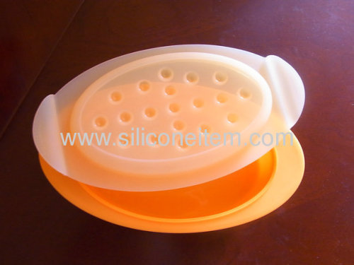 Oval Silicone Food Steamer