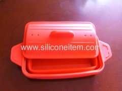 Red Foldable Silicone Steamer