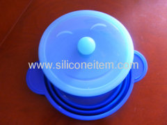Smile Round Folding Silicone Steamer