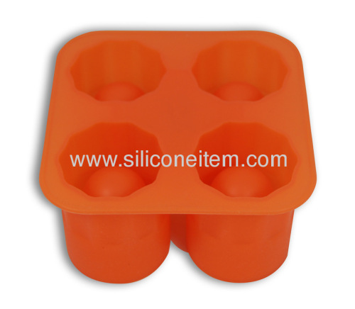 4 Silicone Ice Cube Trays