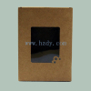 Kraft paper box packaging with plastic window