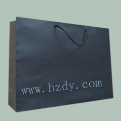 Black paper bag for shopping