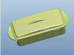 Green slicone lunch box