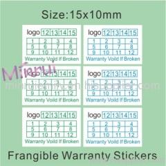 destructive warranty stickers