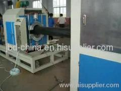 PE gas and drainage pipe extrusion line