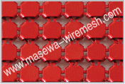 red metallic cloth for divider