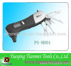 Multi function Auto Emergency Tool with Tire Gauge