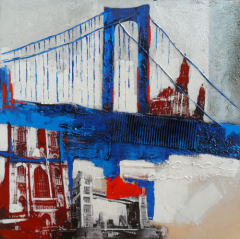 Handmade Canvas Building Oil Paintings