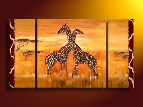 Animal Group Oil Painting On Canvas