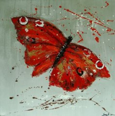 Animal Painting Of Butterfly On Canvas