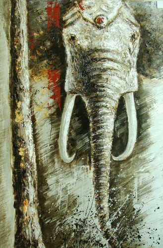 Elephant Animal Oil Paintings Wholesale