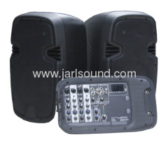 JBL Portable two-Way system with detachable powered mixer